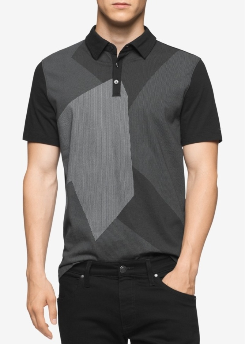 Calvin Klein Men's Geometric Colorblocked Polo