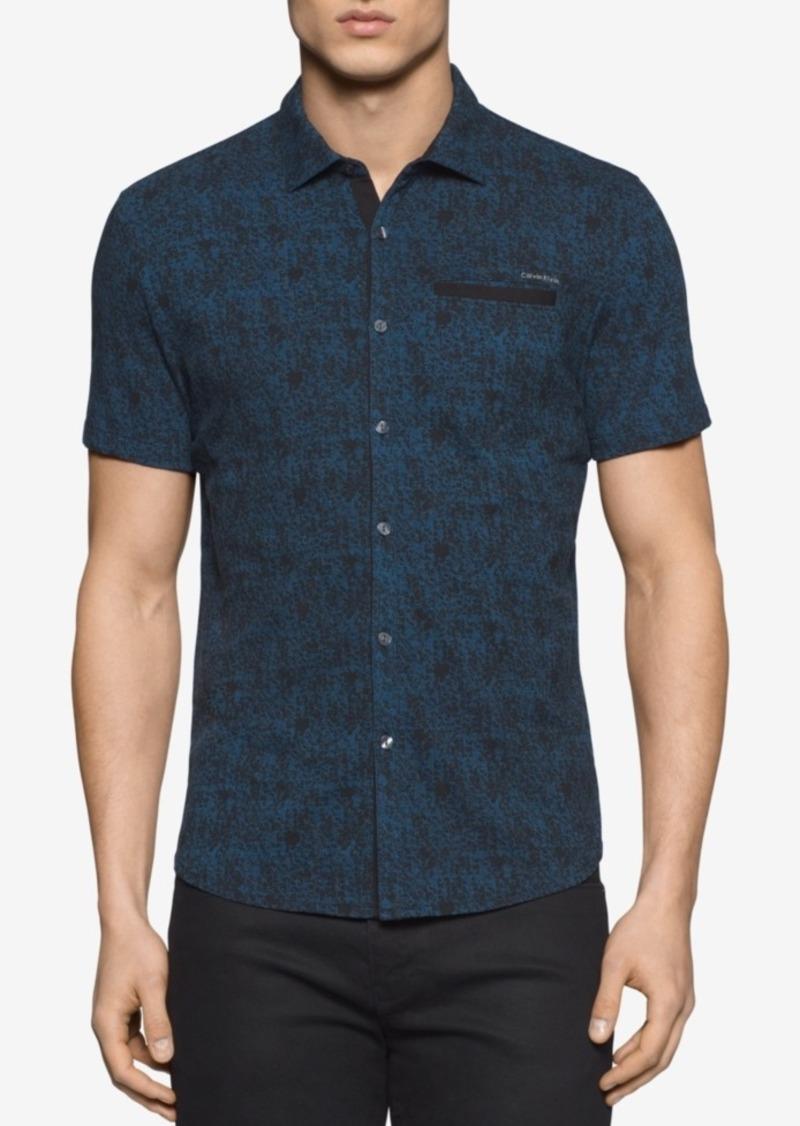 Calvin Klein Men's Geometric Print Short-Sleeve Shirt