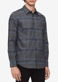 Calvin Klein Men's Glen Plaid Shirt