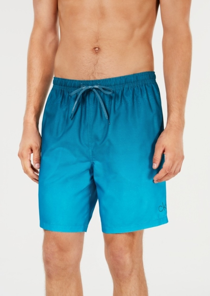 "Calvin Klein Men's Gradient 7"" Volley Swim Trunks, Created for Macy's"