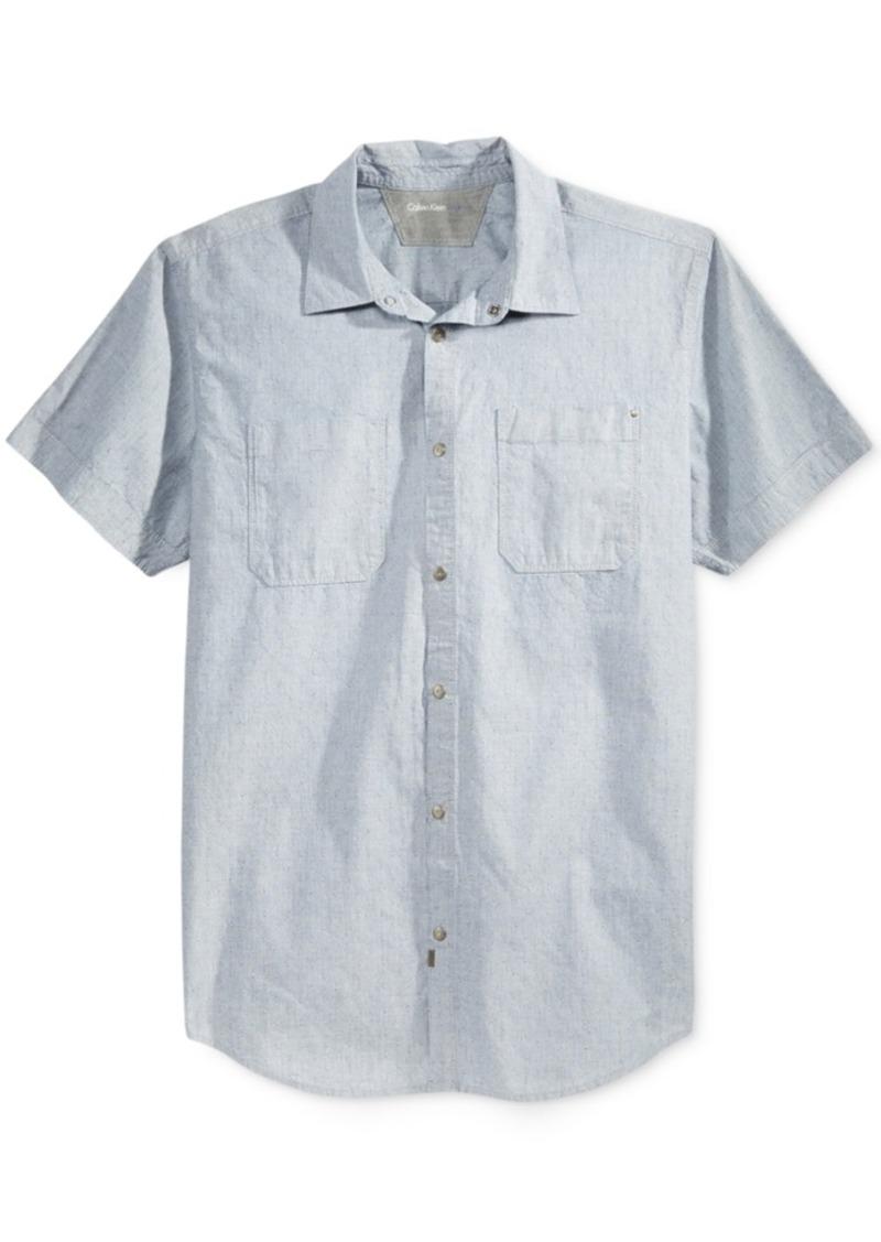 Calvin Klein Jeans Men's Hailstorm Dobby Shirt