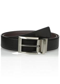Calvin Klein Men's Harness Buckle 35mm Reversible Belt black/Brown