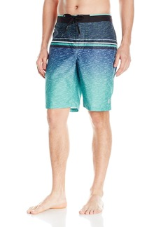 Calvin Klein Men's Heather Stripe E-Board Swim Short nephrite Jade