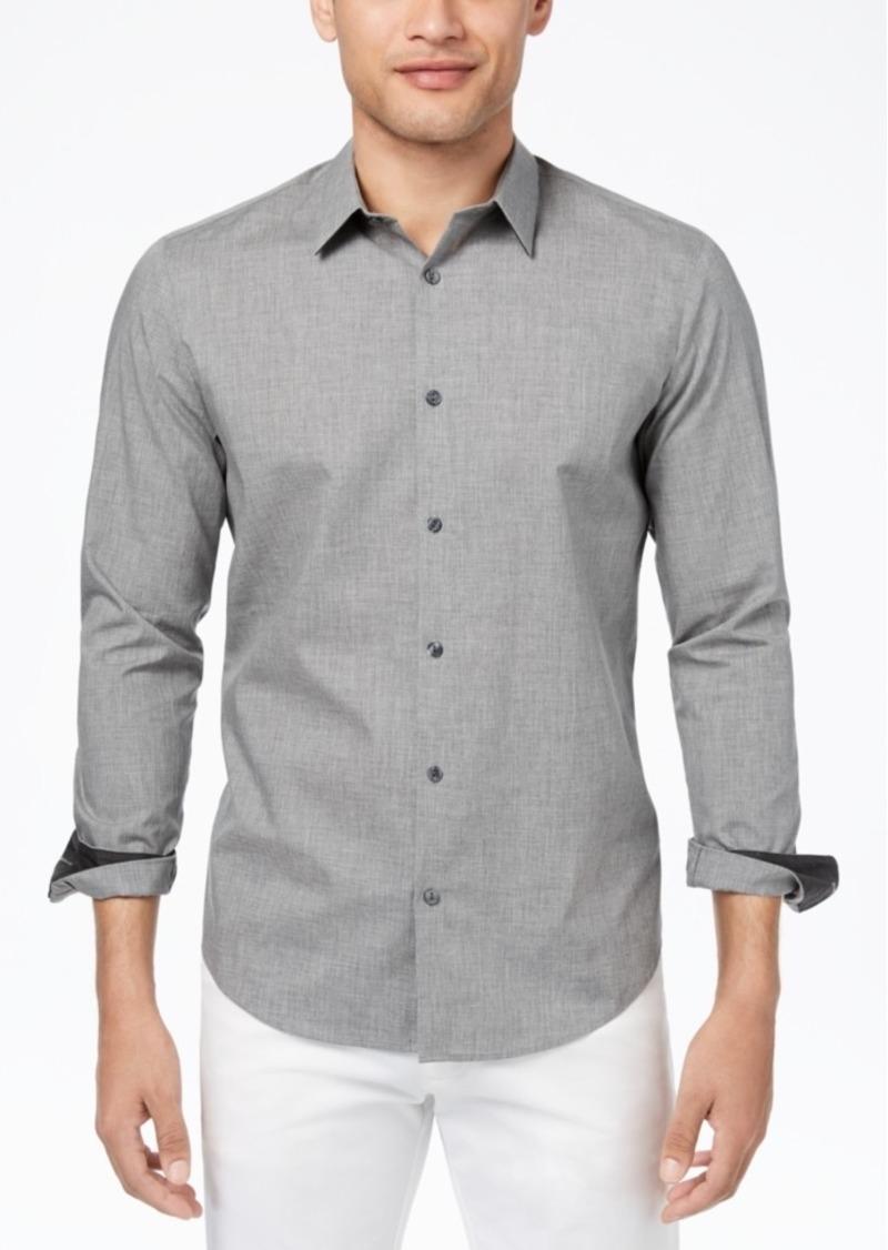 Calvin Klein Men's Heathered French Placket Shirt
