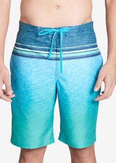"Calvin Klein Men's Heathered Stripe 9"" Board Shorts"