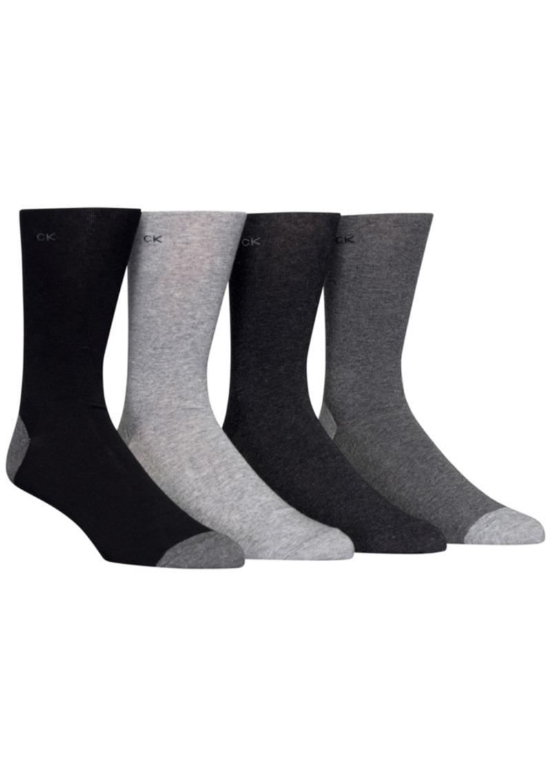 Calvin Klein Men's Heel Toe Socks 4-Pack