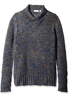 Calvin Klein Men's Space Dye High Crossover Neck Sweater  2X-LARGE