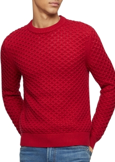 Calvin Klein Men's Honeycomb-Knit Sweater