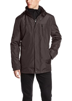 Calvin Klein Men's Hooded Jacket with Bib