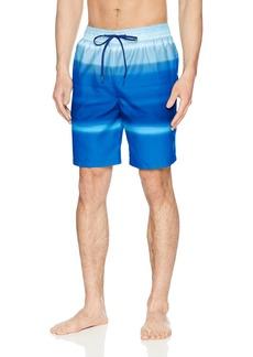 Calvin Klein Men's Horizon Stripe Printed Swim Trunk surf Web Extra Large