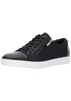 Calvin Klein Men's Ibrahim Brshd Lthr Fashion Sneaker Black