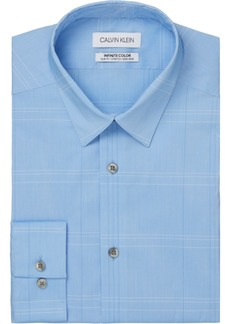 Calvin Klein Men's Infinite Color Slim-Fit Non-Iron Performance Stretch Check Dress Shirt