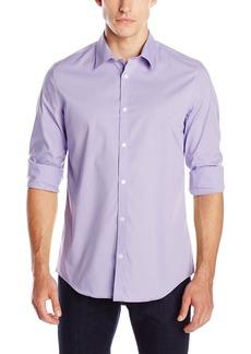 Calvin Klein Men's Stripe Long Sleeve Non-Iron Button Down Shirt