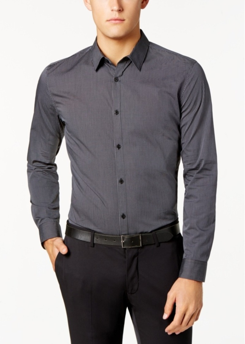 Calvin Klein Men's Infinite Cool Thin Stripe Shirt