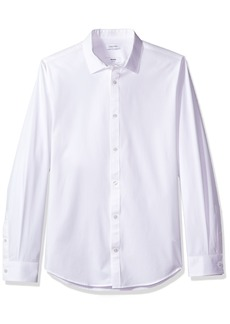Calvin Klein Men's Infinite Slim Fit Button Down Long Sleeve Dress Shirt Stretch Collar