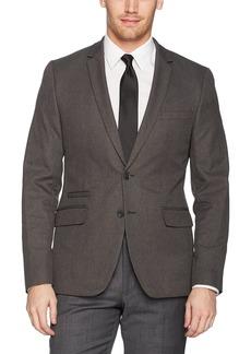 Calvin Klein Men's Infinite Tech Heather Suit Jacket Gunmetal