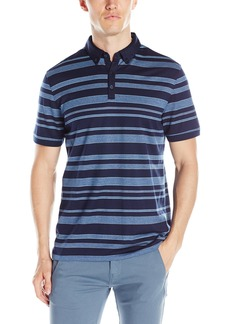 Calvin Klein Men's Short Sleeve Jacquard Polo Shirt