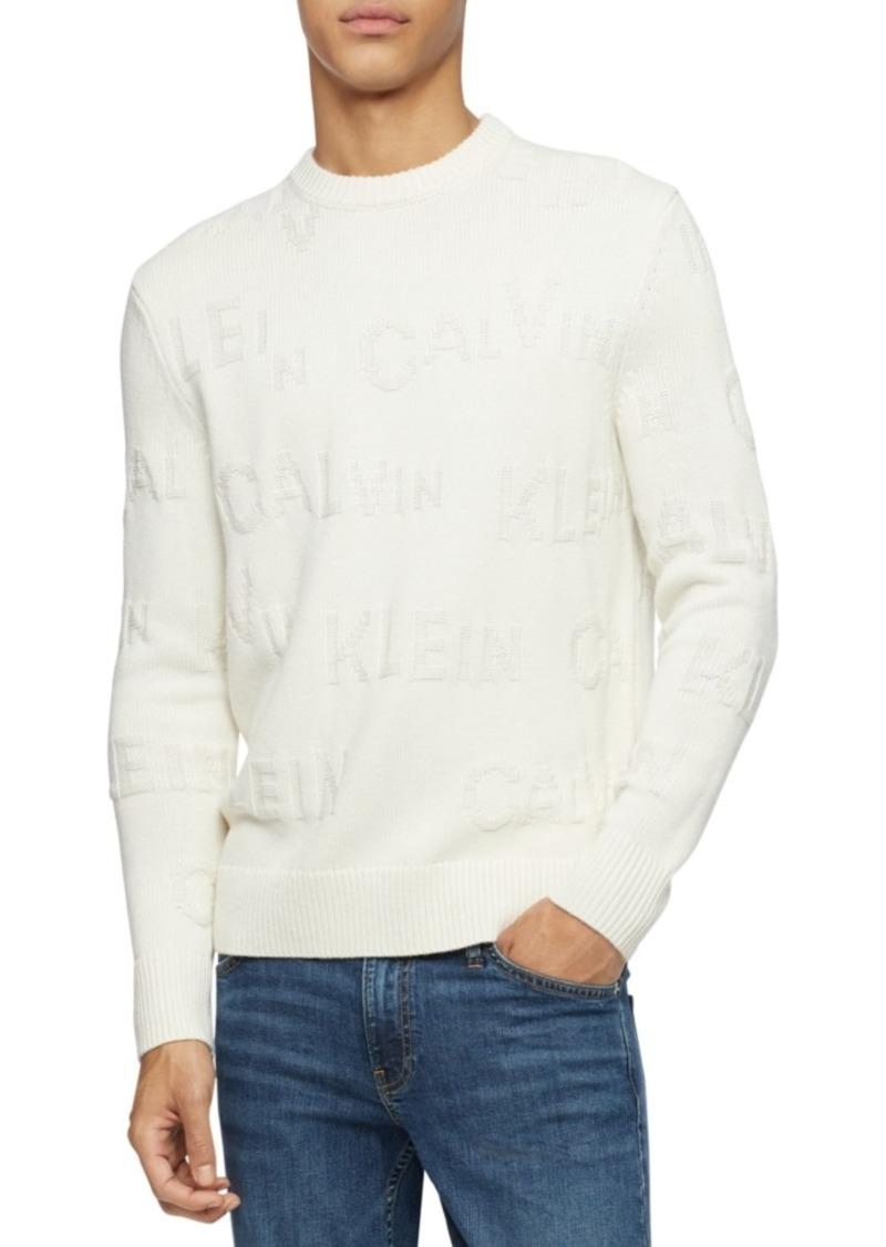 Calvin Klein Men's Jacquard Logo Sweater