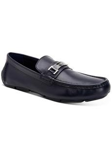 Calvin Klein Men's Kaufman Crust Leather Bit Loafers Men's Shoes