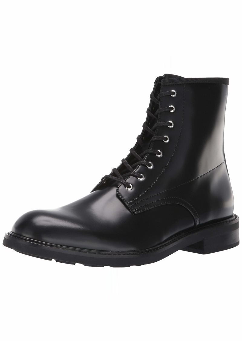 Calvin Klein Men's Keeler Box Leather Combat Boot   M M US