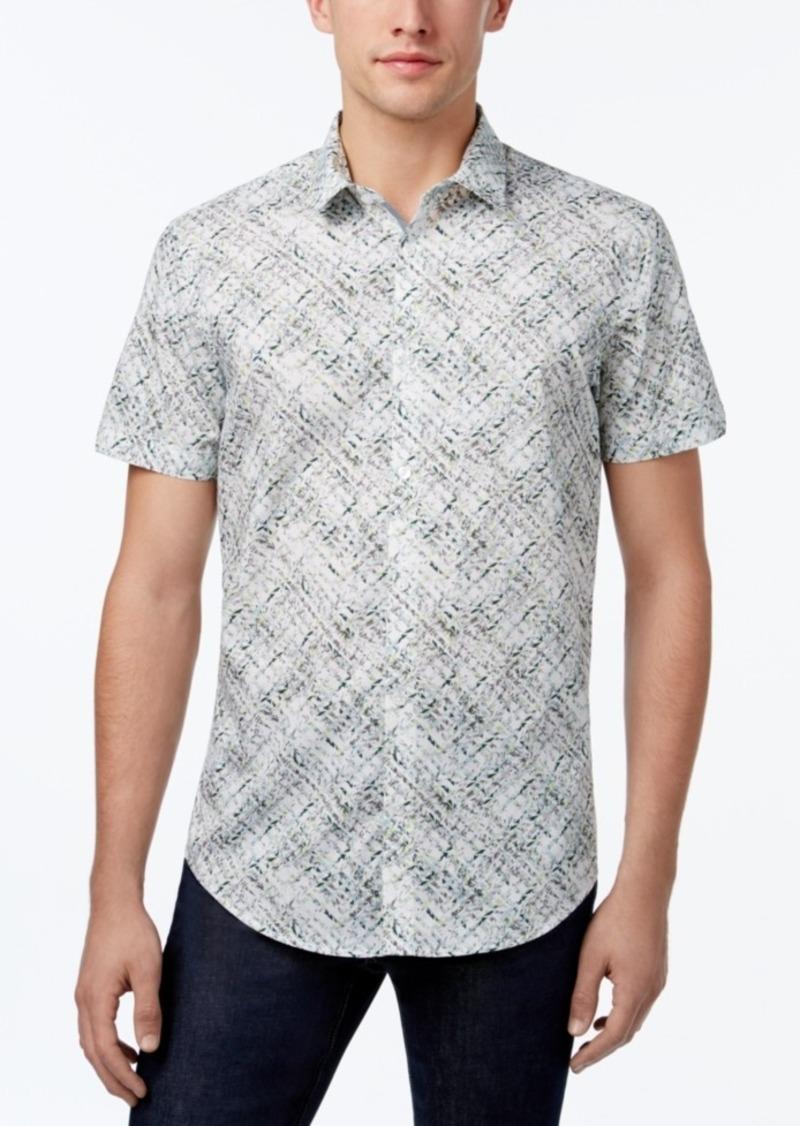 Calvin Klein Calvin Klein Men 39 S Lattice Floral Print Shirt