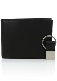 Calvin Klein Men's RFID Blocking Leather Bifold Wallet with Key Fob
