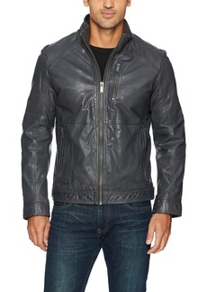 Calvin Klein Men's Leather Open Bottom Jacket