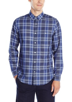 Calvin Klein Men's Light Plaid Long-Sleeve Button Down Shirt