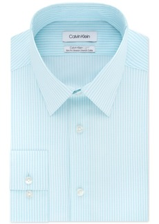 Calvin Klein Men's Light Slim-Fit Performance Stretch Stripe Dress Shirt