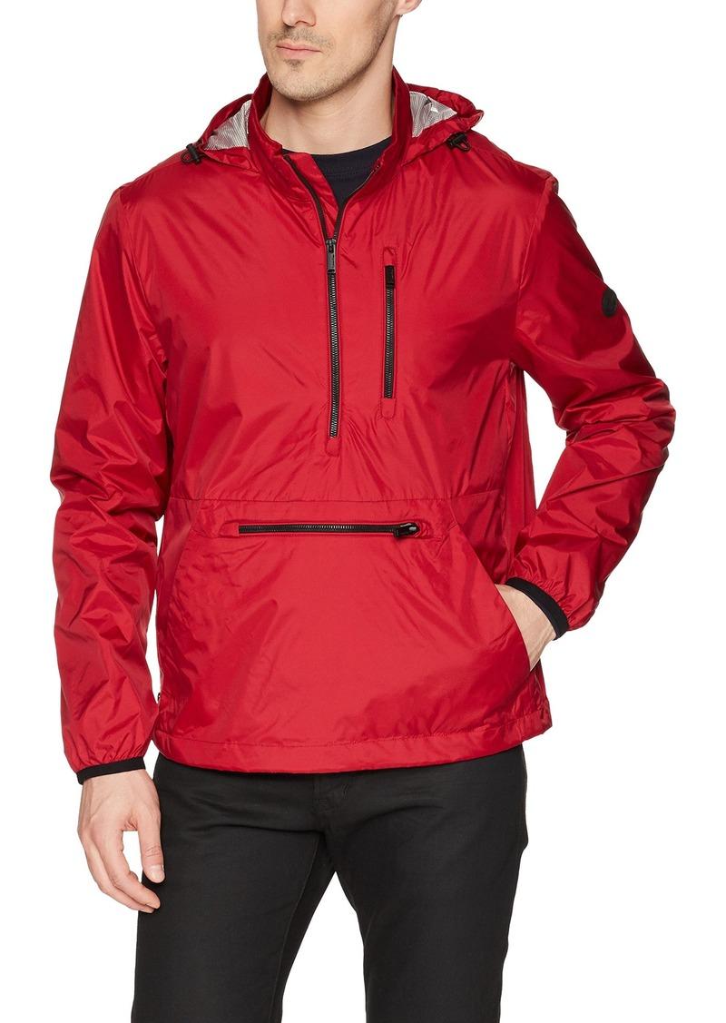 Calvin Klein Men's Lightweight Wind Sleeker Pop Over Jacket fire
