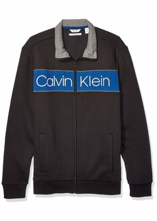 Calvin Klein Men's Lightweight Zip Up Weekend Layer Sweater black