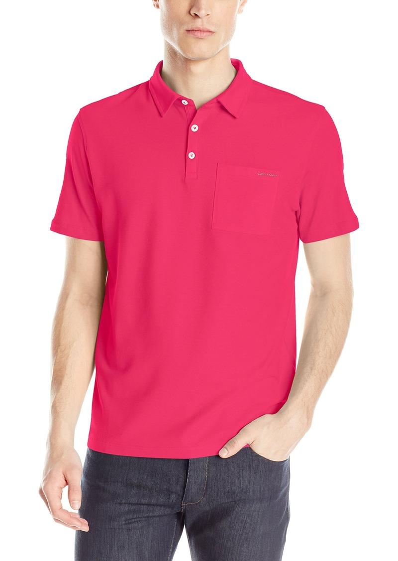 Calvin Klein Men's Liquid Cotton Short Sleeve Polo Shirt