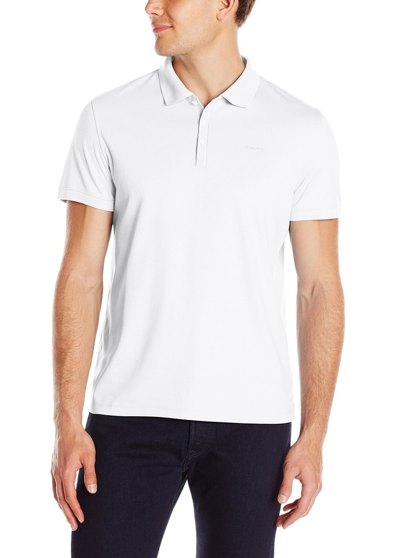 Calvin Klein Men's Liquid Cotton Solid Polo Shirt