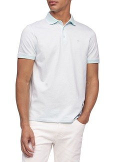 Calvin Klein Liquid Touch Herringbone Polo Shirt