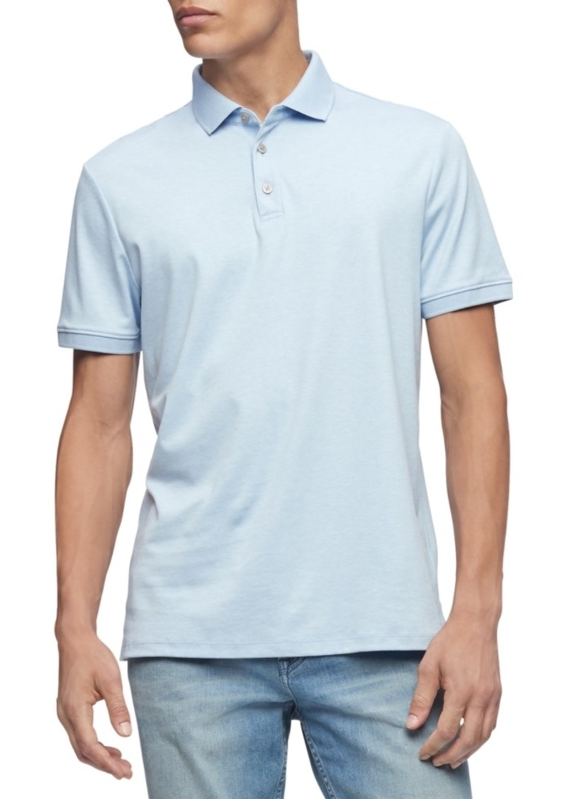 Calvin Klein Men's Liquid Touch Cotton Polo Shirt