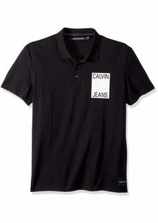 Calvin Klein Men's Short Sleeve Pique Cotton Polo Shirt  2X-Large
