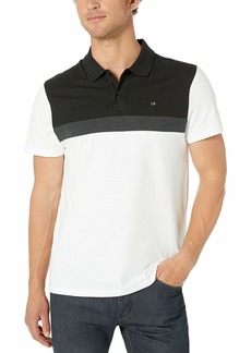 Calvin Klein Men's Liquid Touch Polo Stripe with UV Protection