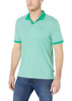 Calvin Klein Men's Liquid Touch Polo Stripe with UV-Protection