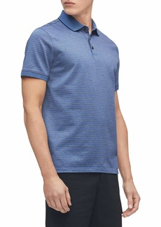 Calvin Klein Men's Liquid Touch Polo Stripe with UV-Protection