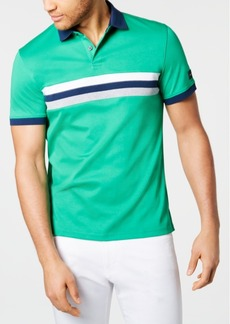 Calvin Klein Men's Liquid Touch Regular-Fit Colorblocked Stripe Polo Shirt
