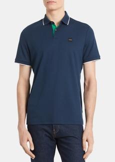 Calvin Klein Men's Liquid Touch Regular-Fit Tipped Polo Shirt