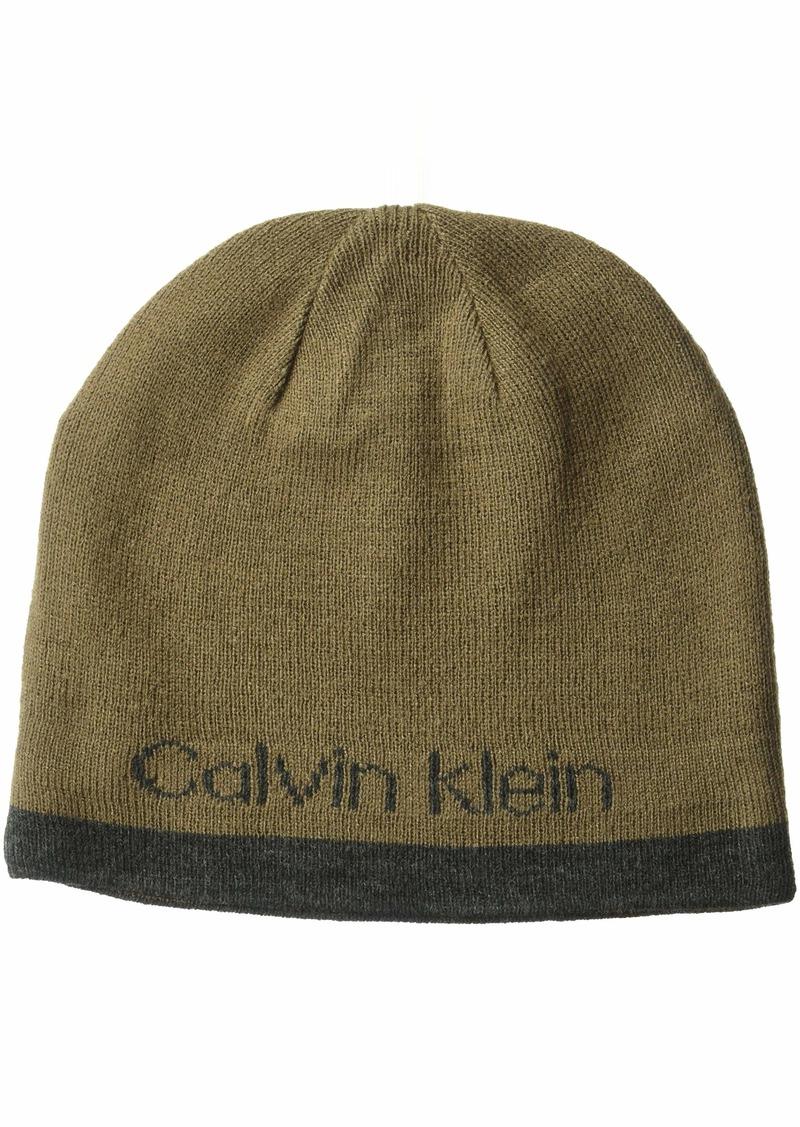 Calvin Klein Men's Logo Beanie