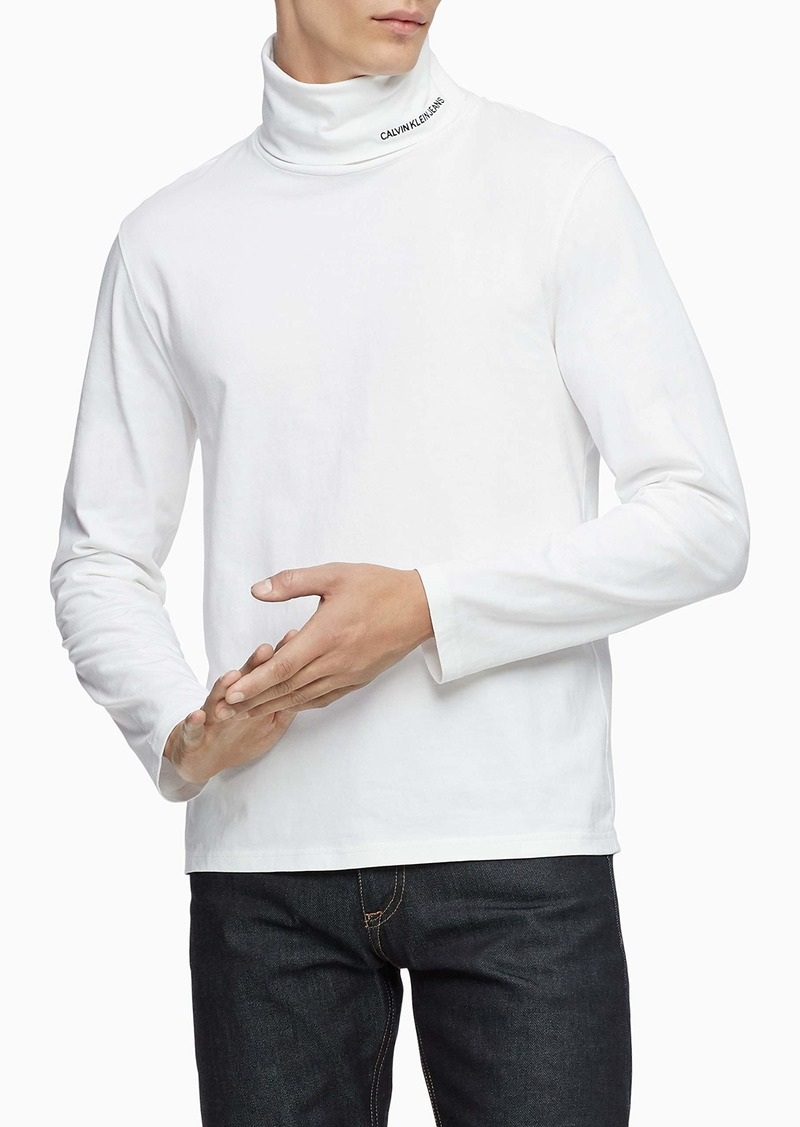 Calvin Klein Men's Logo Long Sleeve Turtleneck