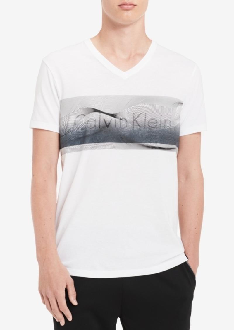 1606ce5d7 Calvin Klein Calvin Klein Men s Logo-Print V-Neck T-Shirt