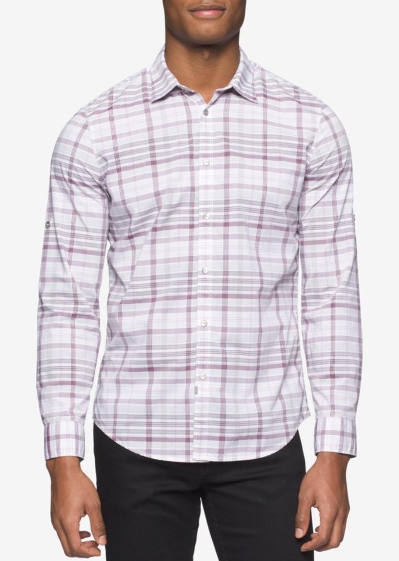 Calvin Klein Jeans Men's Long-Sleeve Bold Variegated Shirt