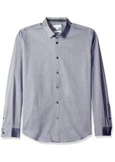 Calvin Klein Men's Long Sleeve Button Down Print Shirt