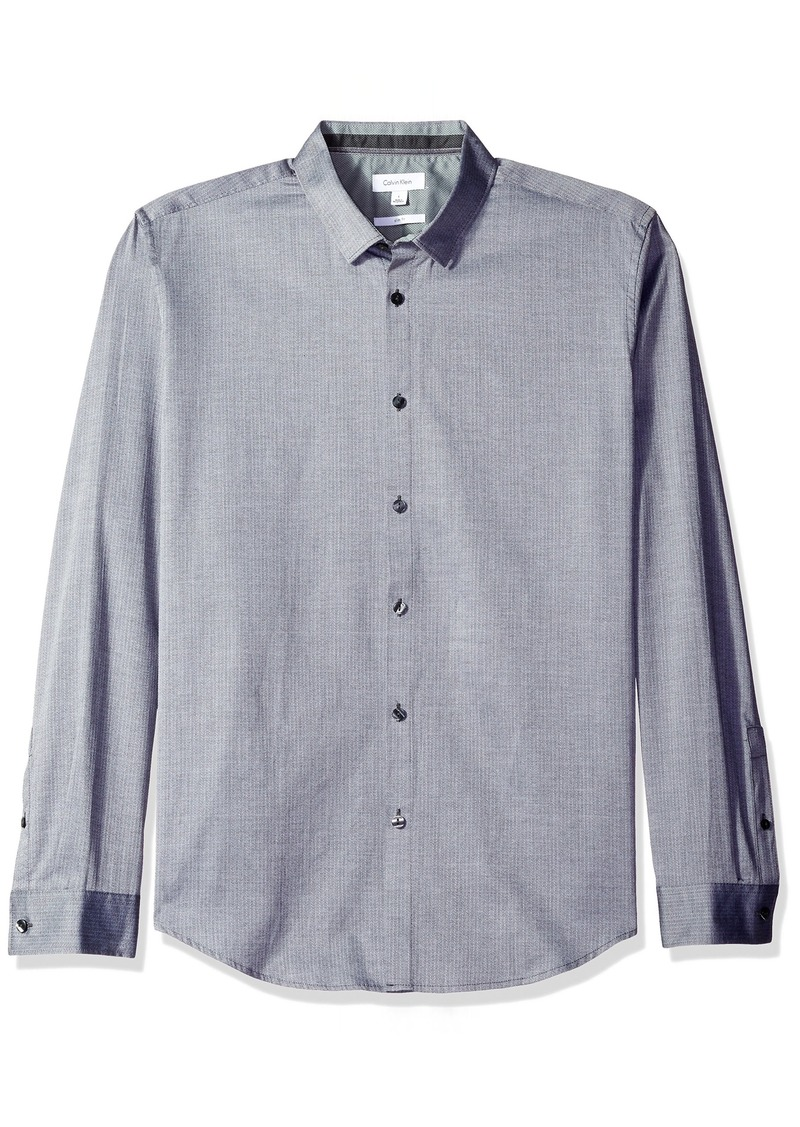 Calvin Klein Men's Long Sleeve Button Down Print Shirt