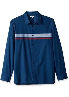 Calvin Klein Men's Long Sleeve Button Down Stripe Shirt  L