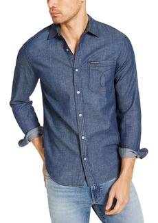 Calvin Klein Men's Long Sleeve Chambray Omega Shirt