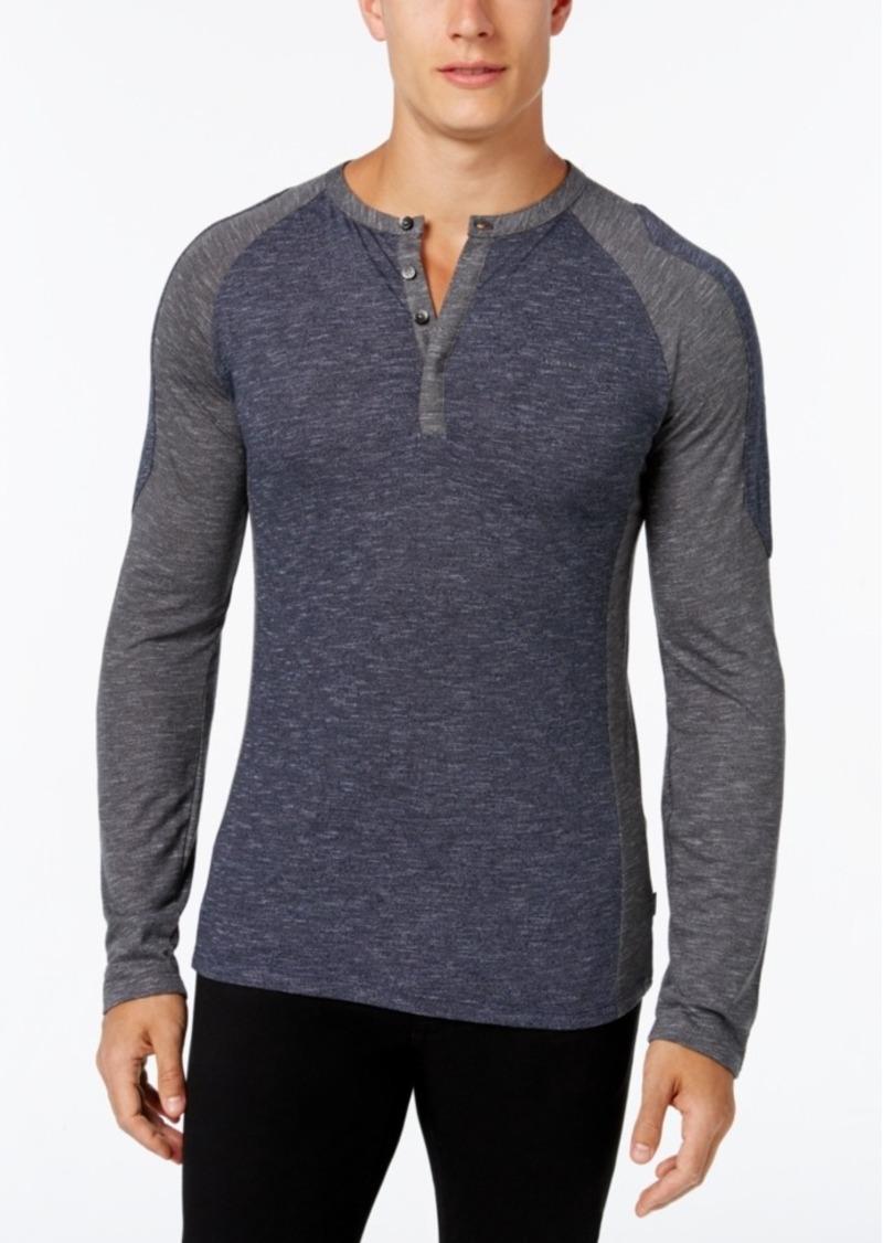 Calvin Klein Men's Long-Sleeve Colorblocked Shirt